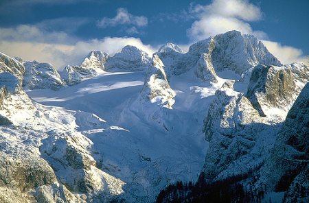 Tání ledovců v alpách